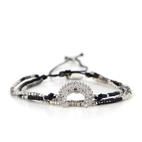 Bracelet B-1797 Black Silver