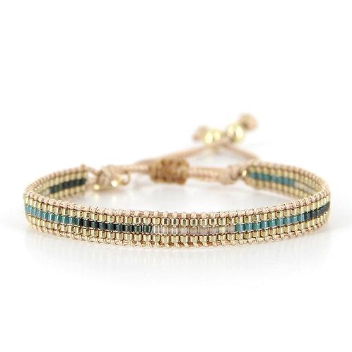 Bracelet B-1543 Gold Pastel Green
