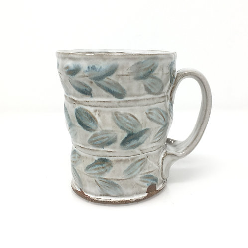 Cup with Blue Leaves
