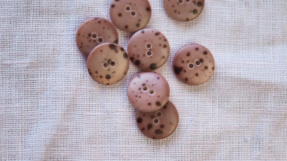 Blush Speckled Shell Button 15mm