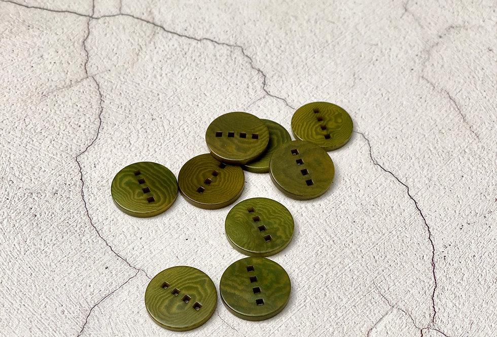 Green 4-Hole Corozo 18mm Button