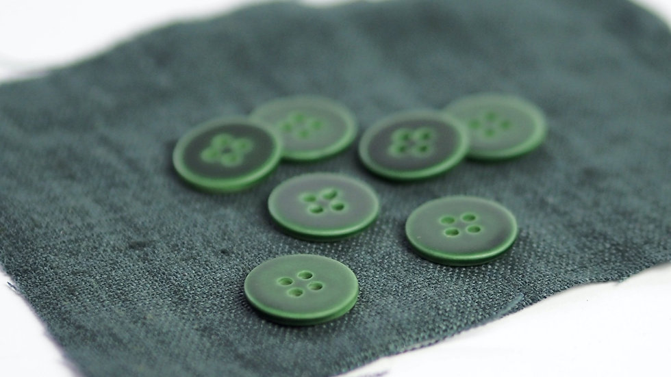 Deep Green Shell Button
