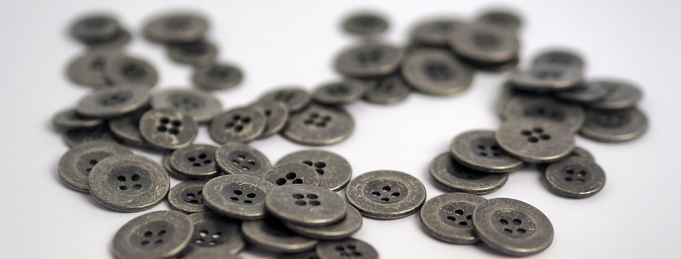Zinc Button 15mm
