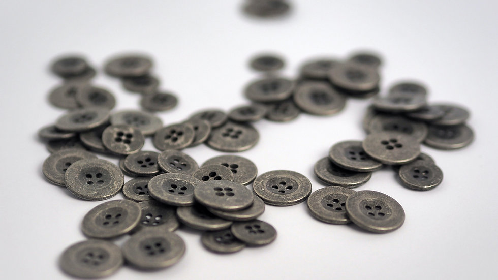 Zinc Button 15mm