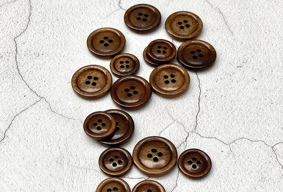 Ground Coffee Bone Button 20mm