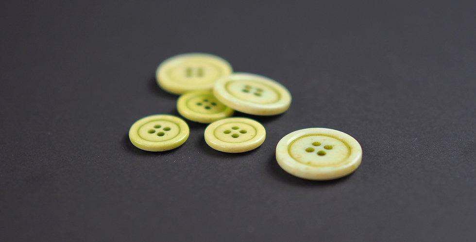 Lime Bone Button 15mm