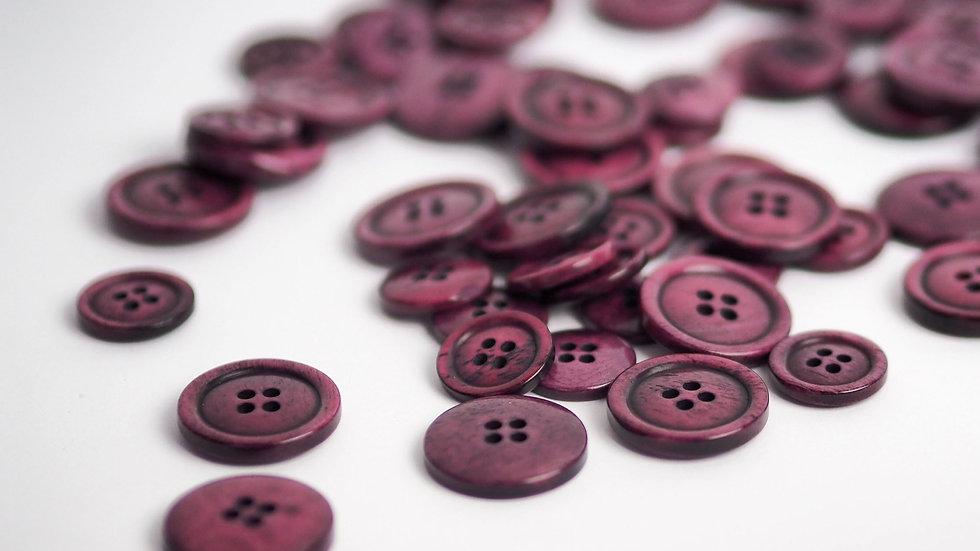 Raspberry Bone Button 20mm