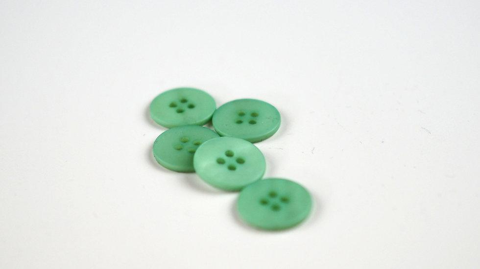 Peppermint Shell Button 15mm