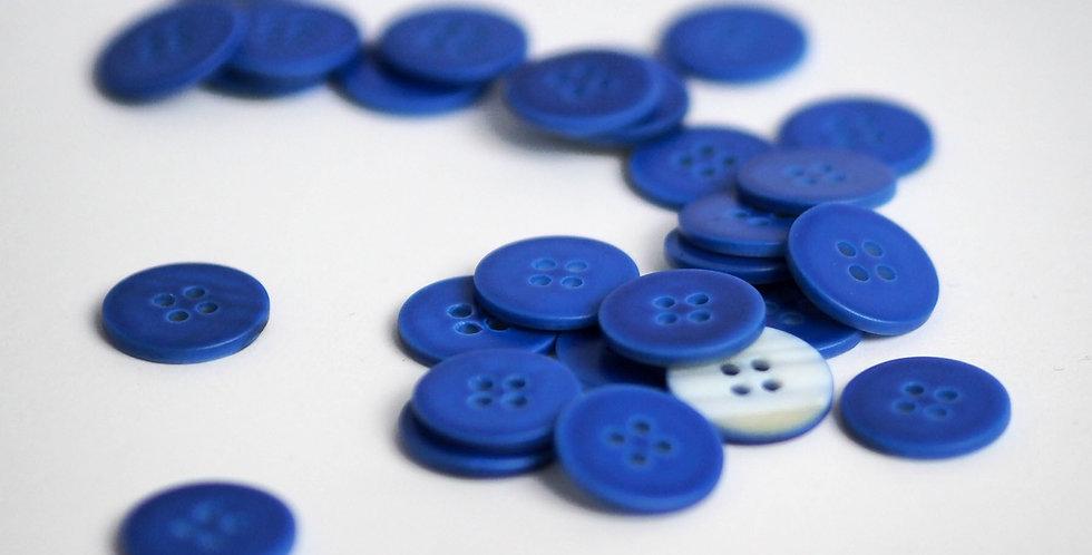 Cobalt Shell Button 15mm