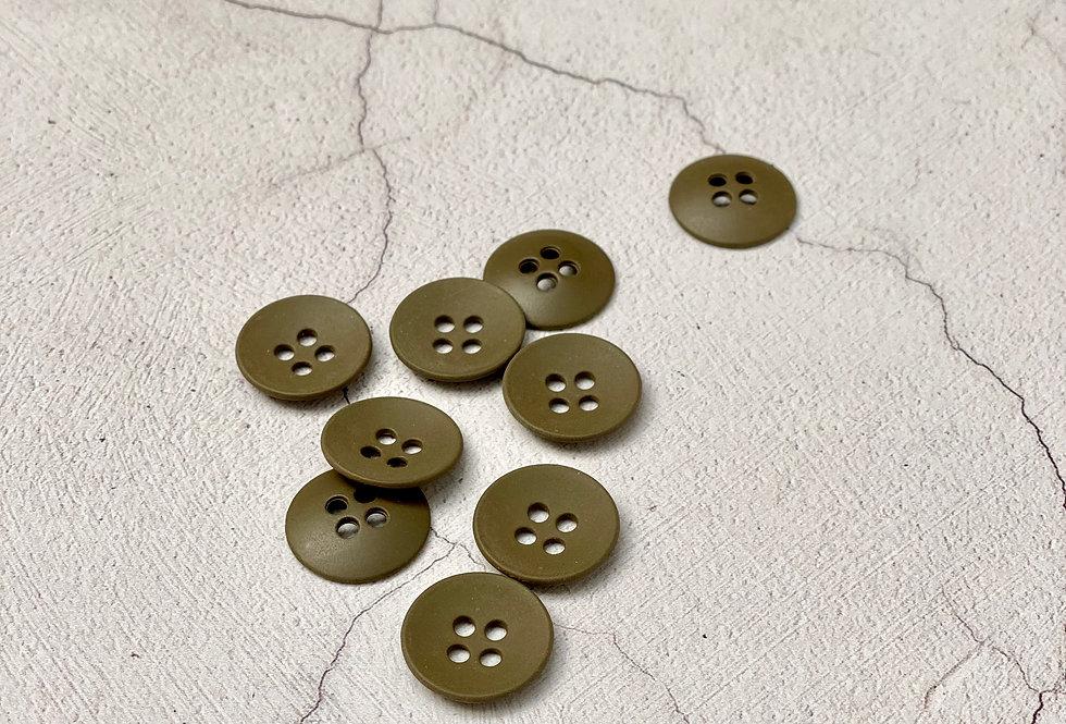 Khaki Metal Button 18mm