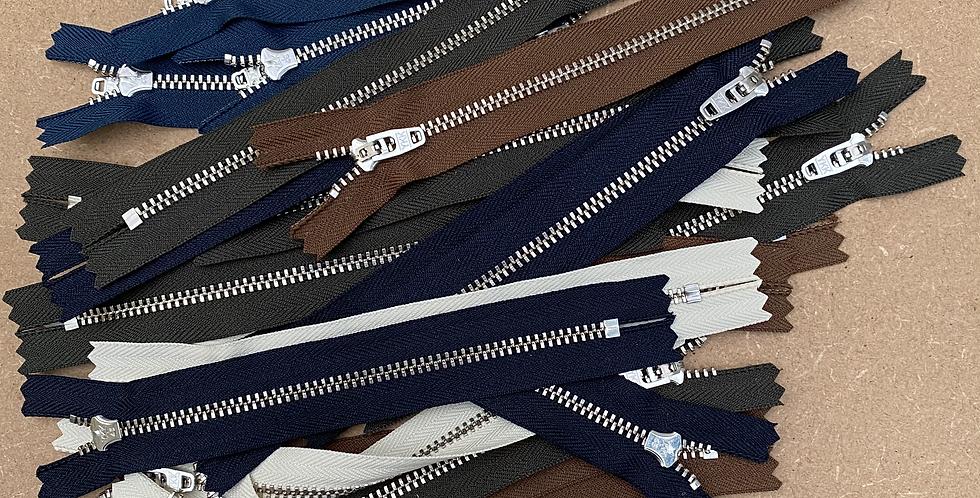 18cm Metal Jeans Zip