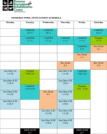 Pomeroy Pool Swim Lesson Schedule