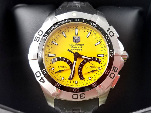 TAG HEUER AQUARACER YELLOW CHRONOGRAPH