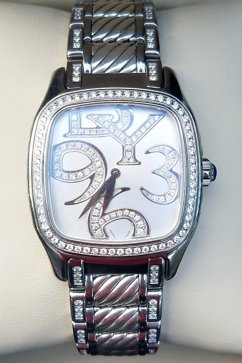 32MM CLASSIC YURMAN DIAMOND SIGNATURE WATCH
