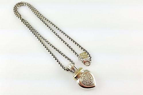 DAVID YURMAN DIAMOND HEART ENHANCER NECKLACE