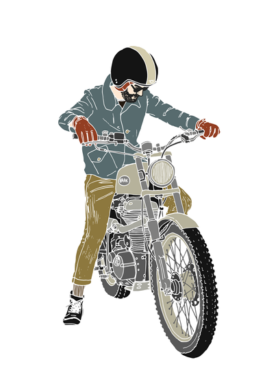 Black Oleum Illustration pour Baak Motocyclettes