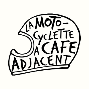 La Motocyclette à Café Adjacent side car coffee shop france logo design lyon moto