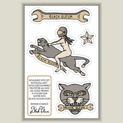 "Mini Planche Stickers ""Panther"""