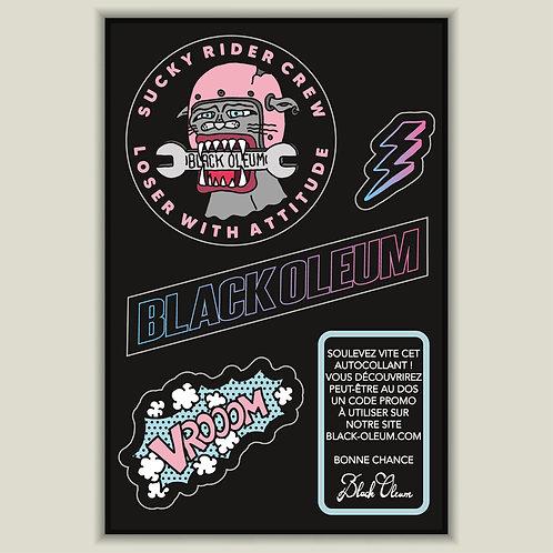 """Mini Planche Stickers """"Sucky Rider"""""""