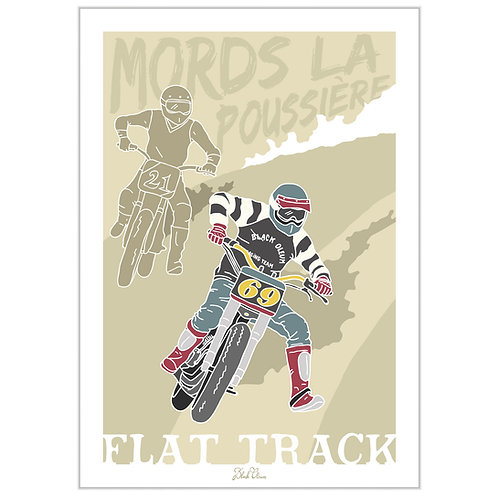 "Art Print ""Flat Track"""
