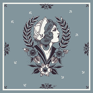piece of chic lyon design création foulard illustration