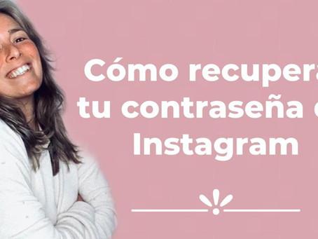 ¿Cómo recuperar tu contraseña de Instagram?