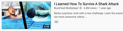 BuzzFeed - How to survive a shark attack