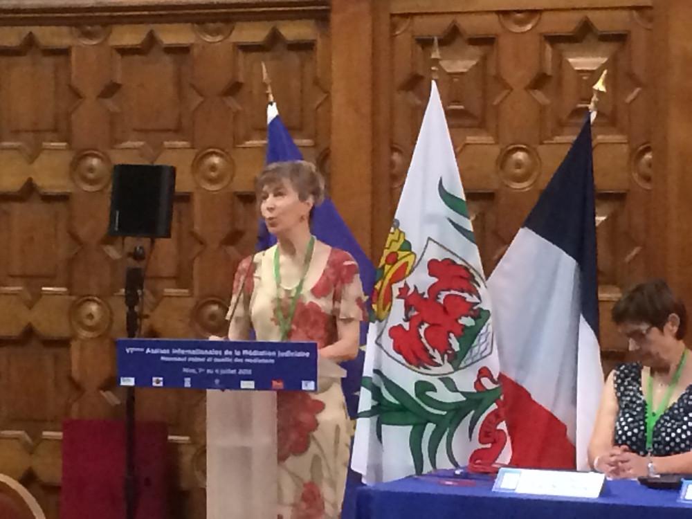 Béatrice BRENNEUR, grande figure de ces Assises Internationales de la médiation qu'elle organise chaque année avec autant de brio et de maestria.