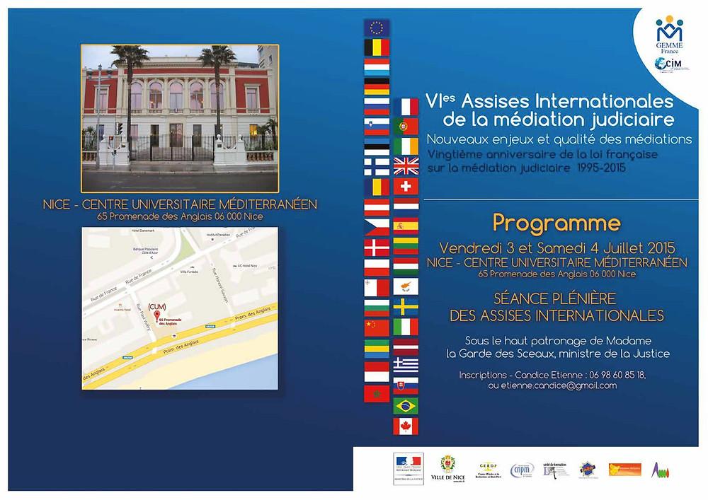 Programme des Assises de la CIMJ 2015