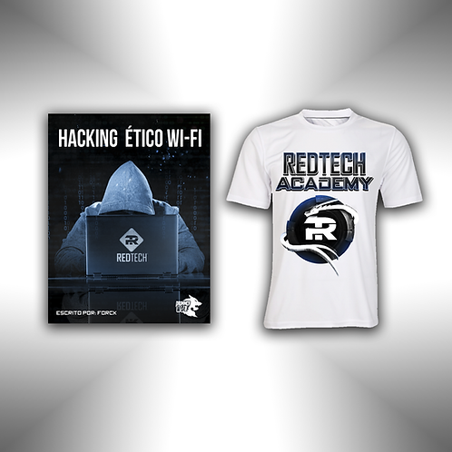 Paquete manual Hack WiFi & Playera RedTech Academy
