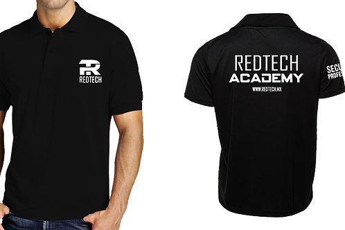 Playera tipo polo RedTech Academy bordada