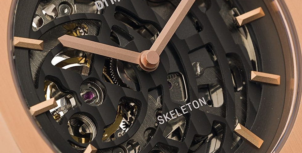 Men's Skeleton Rose Gold