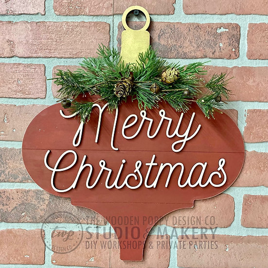 DIY Kit - 3D Merry Christmas Vintage Ornament