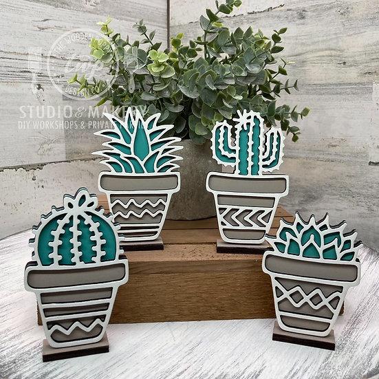 3D Self-standing Cactus DIY Kit