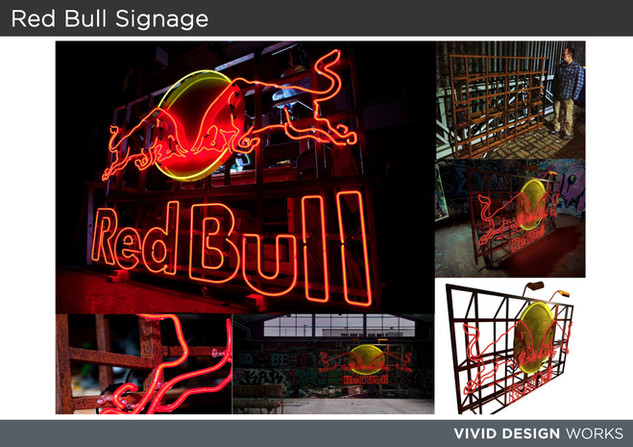 Red Bull Signange