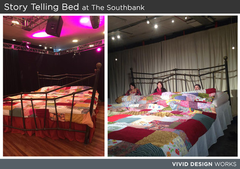 Story Telling Bed at The Southbank