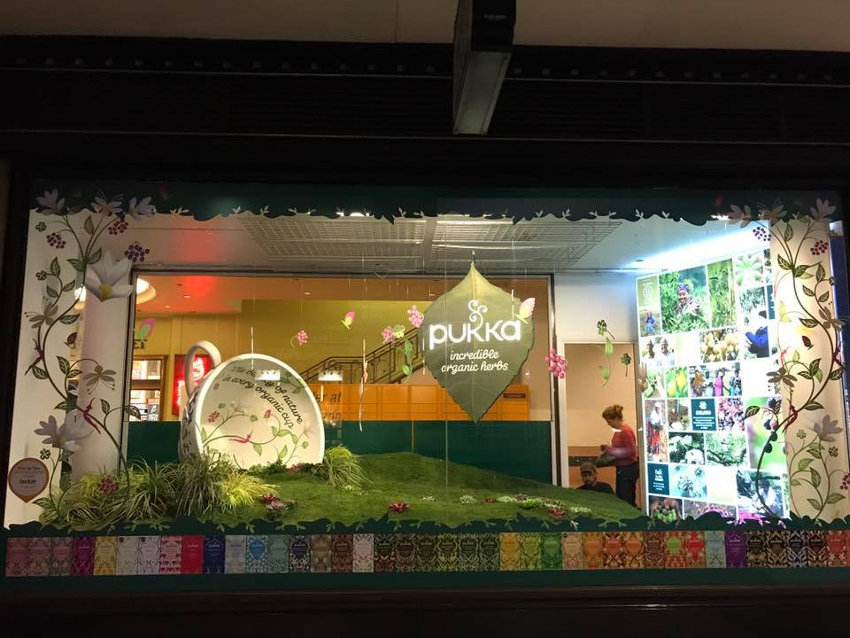 Pukka Wholefoods Window Display