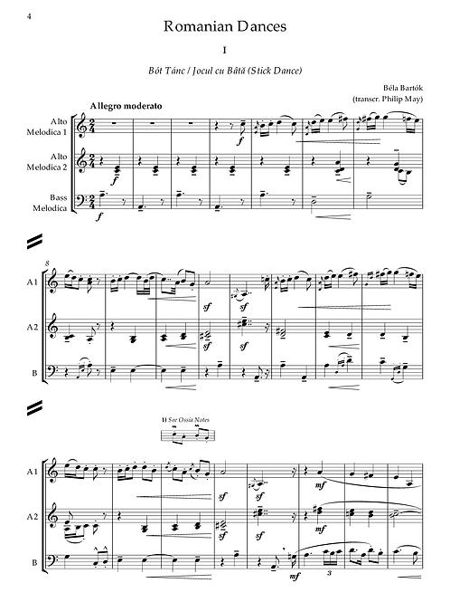 Bartók - Romanian Dances (transcr. Melodica Trio)
