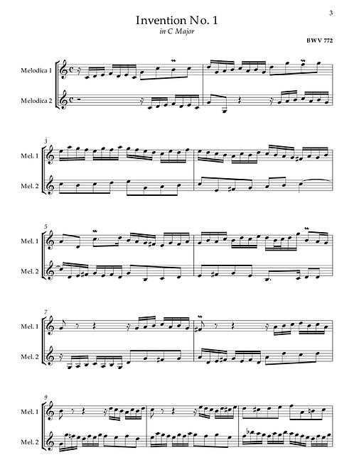 J.S. Bach - 15 Inventions, BWV 772-786 (transcr. 2 Alto Melodicas)