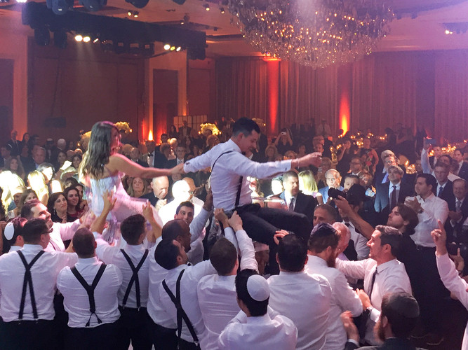 Happy times at a Jewish wedding in Montreal