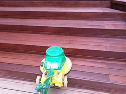 Terrasse mit Stufen pflegen
