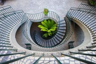 Fliesen auf der Treppe