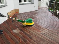 Terrasse Pflege