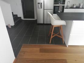 Parkett-Fliesen-Küche-Stuhl