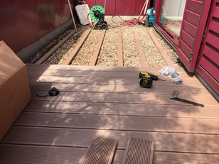 Terrassenboden Montage