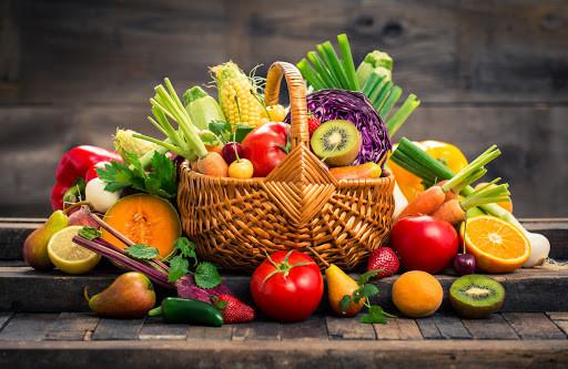 Frutas e legumes de cada estação.