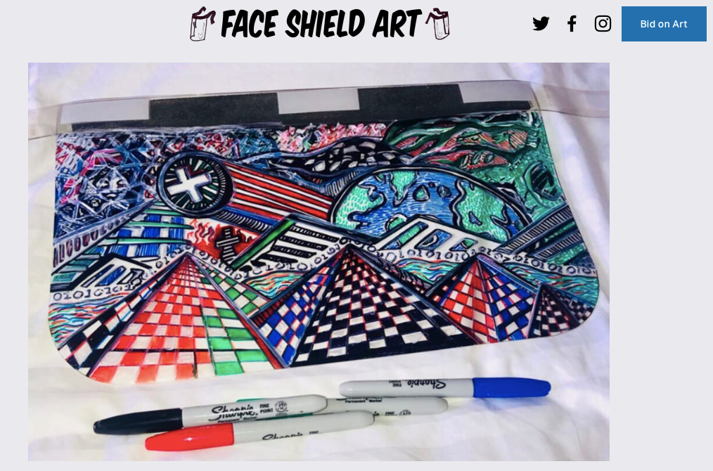 Face Shield Art Bidding