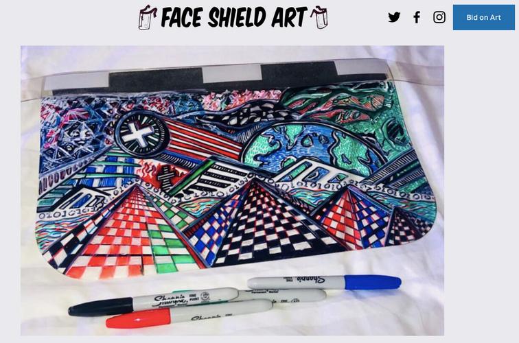 Face Shield Art Bidding