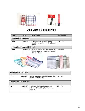 Dish Cloths & Tea Towels