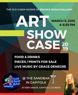 Sandbar Solo Exhibition Poster